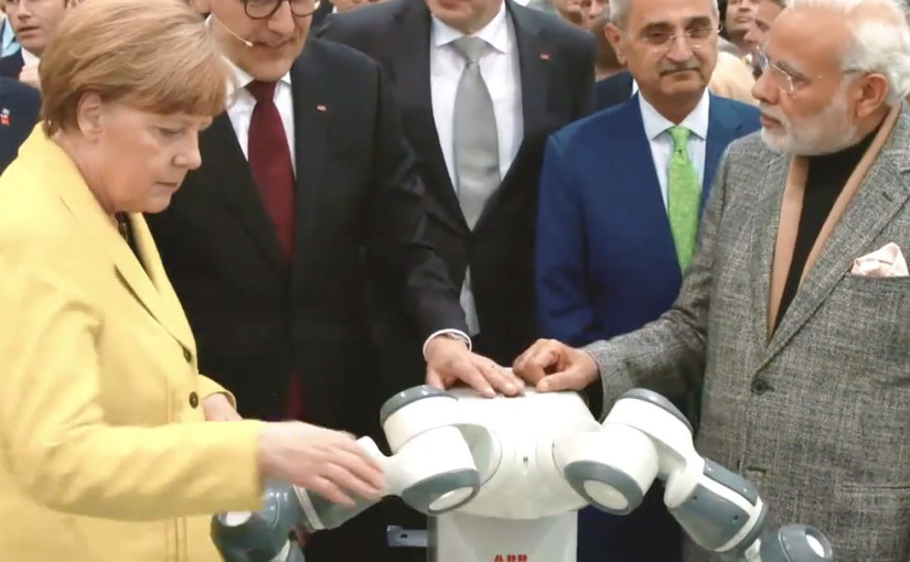 In greep van Merkel: ROBOTS!