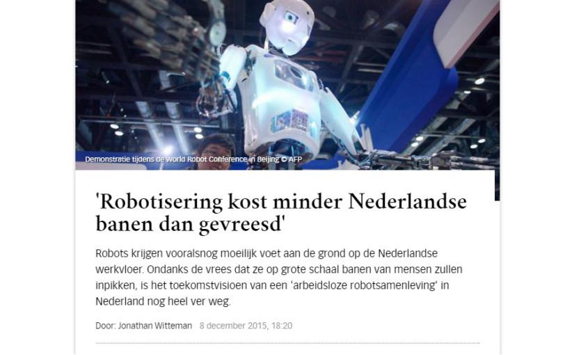 Kies een (opleiding voor een) beroep waar robots niet geschikt voor zijn